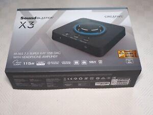 Creative Sound Blaster X3 Hi-Res 7.1 External USB DAC Amplifier
