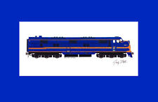 """Chicago & Eastern Illinois E7 11""""x17"""" Matted Print Andy Fletcher signed"""