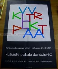 SWISS EXHIBITION LARGE XXL POSTER 1974 CULTURAL POSTER OF SWITZERLAND art print