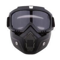 Maschera Con Occhiali Da Sole Protezione Per Casco Harley Moto - Fumo