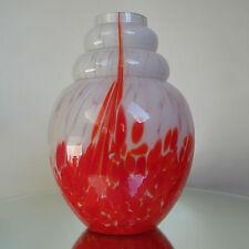 ANTIQUE VASE ART DECO 1930 SCAILMONT BELGIUM CLOUD MARMOREAN GLASS
