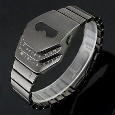 Luxury Men's Stainless Steel Date Digital LED Snake Watch Bracelet Sports Watch