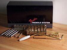 GENUINE FENDER GOLD STRAT USA VINTAGE '57 62 REISSUE STRATOCASTER TREMOLO BRIDGE