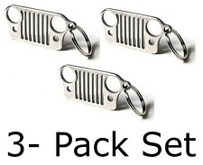 Jeep Grill Keychain Key Ring Car Fob Gift - PACK OF 3 Wrangler Patriot Cherokee