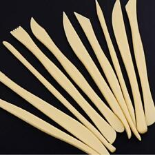 10pcs Wood Wooden Clay Sculpting Tool Set Pottery Carving Ceramic Modelling DIY