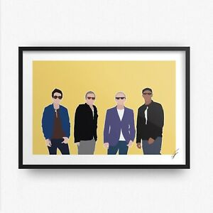 Ocean Colour Scene INSPIRED WALL ART Print / Poster Minimal A4 A3 riverboat song