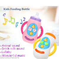 New Lovely Baby Feeding Bottle Educational Musical Toy with Sound Effects Gift