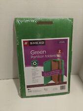 Smead Pressboard Folders Legal Size Green 2 Dividers  5-Pack New