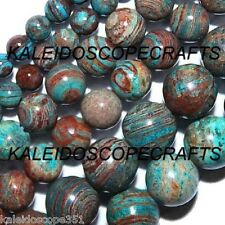 IMPERIAL TURQUOISE BEADS 8MM ROUND GEMSTONE BEAD