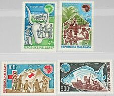 Madagascar MALAGASY 1974 705-08 504-5 c122-3 boy scouts scoutisme conf. MNH
