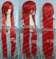 Natural Women Cosplay Grell kuroshitsuji Long Red Straight Hair Party Full Wigs
