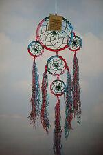 Handmade Medium Triple Cotton  Rainbow  Dreamcatcher with Tassles~uk seller