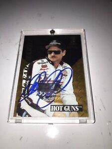 Rare Autographed Dale Earnhardt #3 GM Goodwrench Pinnacle Zenith HOT GUNS 1995