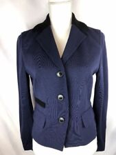 Judith & Charles Womens Size 10 Blue Blazer Button Down Jacket Long Sleeve Lined