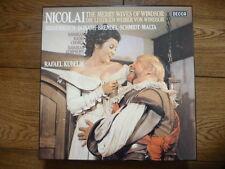 RAFAEL KUBELIK - NICOLAI merry wives of windsor DECCA 3xLPs MINT DISCS!