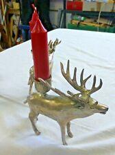 4 Hirsche / Kerzenständer  versilbert Unikate statt Adventskranz Weihnachtsdeko