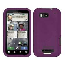 NEW AMZER PURPLE PREMIUM SILICONE SOFT SKIN JELLY CASE FOR MOTOROLA DEFY MB525