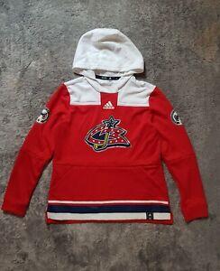 Men's Adidas NHL Columbus Blue Jackets Reverse Retro Pullover Hoodie sz M L XL