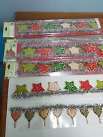 lot of 4 paper adhesive borders set K&Company-Christmas Speciality Embellishment