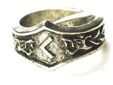 Cen Viking Dragon Head Rune Ring , Inspiration Ideas, Letter 'C'. Adjustable