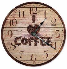 "I LOVE COFFEE Clock - Large 10.5"" Wall Clock - 2063"