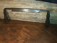 "Vintage draw knife Jennings & Griffin Ny 9"" blade excellent woodworking tool. Nr"