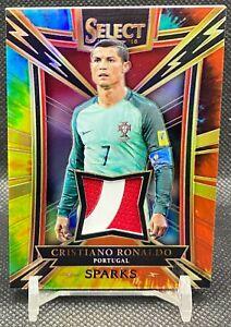 Cristiano Ronaldo 2017-18 Panini Select Sparks Jersey Patch Tie Dye Prizm 3/15
