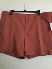 Gloria Vanderbilt Woman's Plus Shorts Burnt Orang Size 24W 3X NWT Retail $48.00