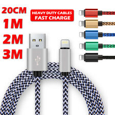 Heavy Duty Braided Lead For Apple iPhone USB Sync Data Fast Charge Charger Cable