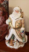 "Fitz and Floyd Winter Wonderland Santa Figurine over 18"" tall"