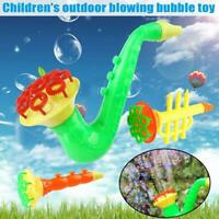 Saxophone Water Blowing Toys Soap Bubble Machine Outdoor Kids Children Toys