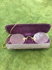 Antique Spectacles Pince Nez Original Case 1890s Victorian Glasses
