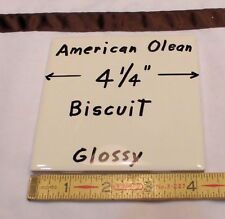 "9 pcs. Glossy Ceramic Tiles *Biscuit Color* by American Olean 4-1/4""   NEW"