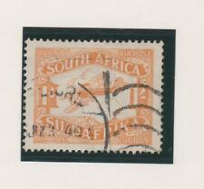 SOUTH  AFRICA  C6 Airmail 1sh orange 1925.  Mail Plane Used