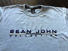 SEAN JOHN T-SHIRT NEW LIGHT BLUE PUFF DADDY CREWNECK MENS SIZE LARGE L COTTON!