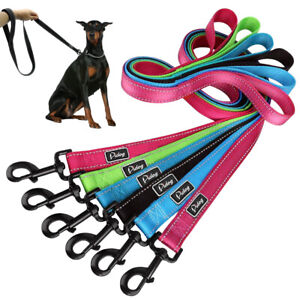 48'' Reflective Dog Leash with Padded Handle Soft for Dogs Walking 4 Colors Lead
