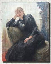 "Fritz von Uhde Fine Art Print : Portrait of Therese Karl 16""x20"""