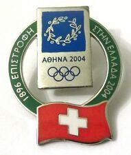 Pin Spilla Olimpiadi Athens 2004 - Switzerland Flag