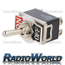 Heavy Duty Toggle Flick Switch 12v On/off coche DASH Luz Metal 12 Voltios DPST