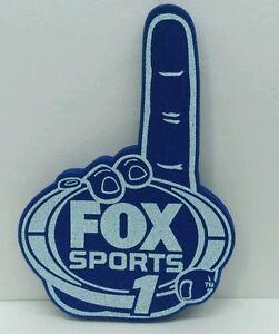 "GIANT Fox Sports 1 TV  ""NUMBER ONE  #1 foam finger hand glove -football stadium"