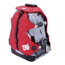 Waterproof Polyester Backpack Shoulder Bag for Roller Inline Ice Skates Red