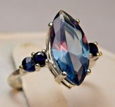5.11+CT WOMAN S RING.RUSSIAN WELL TEST REAL LAB  ALEXANDRITE 100% COLOR CHANGE