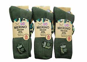 1-6 pairs Mens Merino Wool Blend Military Work Boot thermal Winter Socks 2.8 Tog