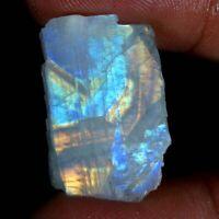 Blue Fire Rainbow Moonstone Rough Slab Gemstone Material 100% Natural Power JG66