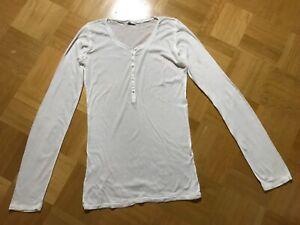 Sehr guter Zustand! American Vintage Henleyshirt Rippshirt gerippt weiß Größe L