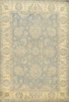 Muted Floral Peshawar-Chobi Oriental Area Rug Vegetable Dye Hand-knotted 6'x9'