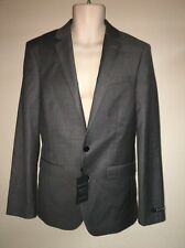 Express Blazer Suit Jacket Gray Producer Modern Fit Mens 36 Reg NWT