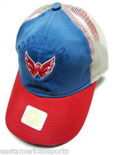 Washington Capitals NHL Reebok Retro Classic Distressed Hat Cap White Mesh Back