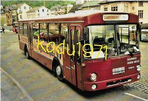 M86) Bus Foto Magirus Deutz. Rhein Mosel. Bahnbus. DB 22-642. Kirn Bhf 13.5.1989