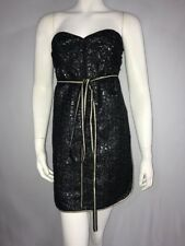 Marc Jacob Mini Cocktail Dress Strapless Metallic Size 4